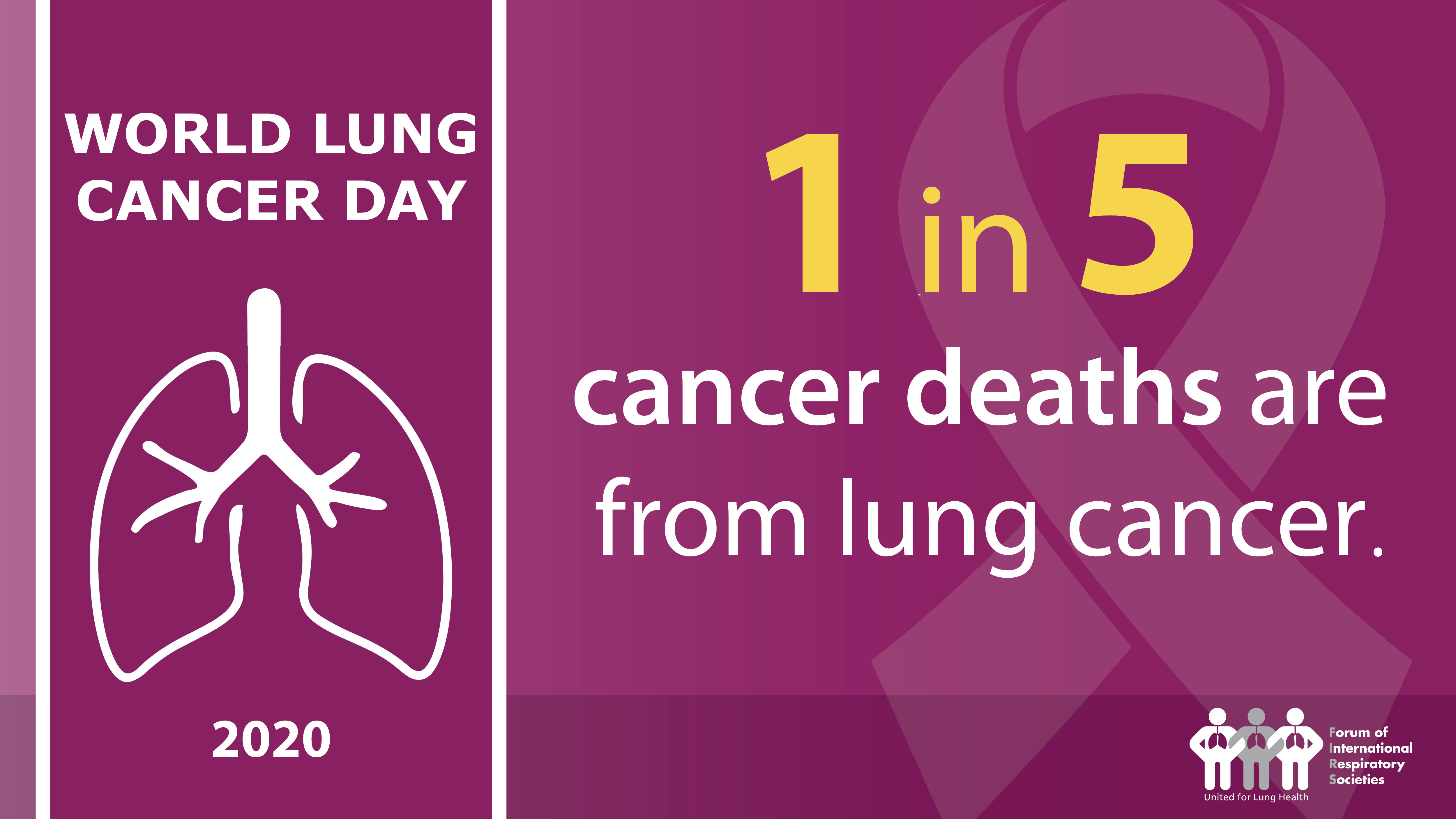 World Lung Cancer Day 2020:  Respiratory groups stress lung cancer risks and importance of early screening and treatment