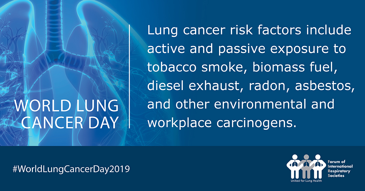World Lung Cancer Day 2019: Respiratory groups raise awareness about lung cancer risks, screening, and treatments